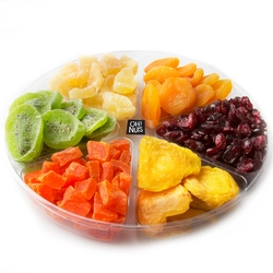 6-Section Dry Fruit Gift Tray - 1 LB Platter