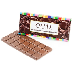 'Obsessive Chocolate Dissorder' Humor Chocolate Bar Favor