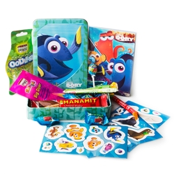 FUN - Kids Purim Dory Sticker Tin Mishloach Maos - 8 Pack