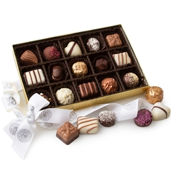 Oh! Nuts Groumat Chocolate Truffle Assortment Gift Box - 15ct Box