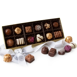 Gourmet Non-Dairy Chocolate Truffle Gift Box - 12CT