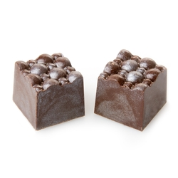 Hand Made Nougat Parve Chocolate Truffles - 12 CT Box