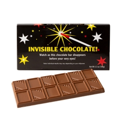 'Invisible Chocolate!' Chocolate Bar Favor