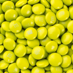 Electric Green M&M's Chocolate Candy