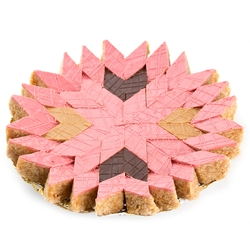 Handcrafted Pink Peanut Diamond Chew Platter - Medium