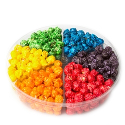 6-Section Candy Coated Popcorn Sampler Tray