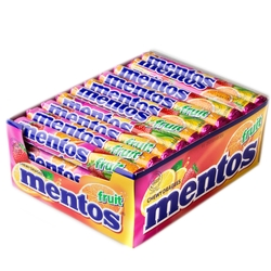 Mentos Fruit Candy Rolls - 40CT Case