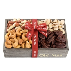 Wooden Dried Nuts Line Up - Small