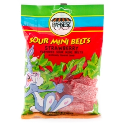 4 oz Mini Sour Belts - Strawberry
