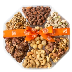 7 Section Holiday Large Nut Platter