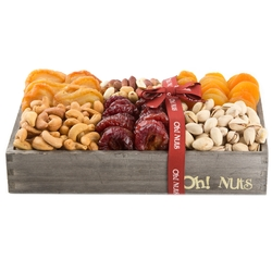 Wooden Dried Fruit & Nuts Line Up - Medium