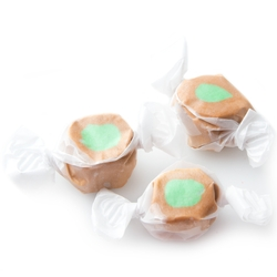 Green & Brown Salt Water Taffy - Caramel Apple