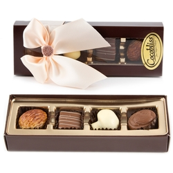 Premium Belgium Truffles Brown Box - 4 PC Box