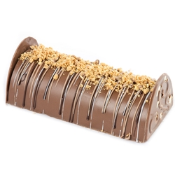 Hand-Crafted Decorative Truffle Chocolate Log