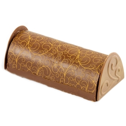 Hand-Crafted Decorative Printed Truffle Chocolate Log