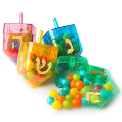 plastic Dreidels with candy