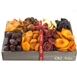 Wooden Dried Fruit Line Up - Medium 12 inch