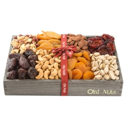 Wooden Dried Fruit & Nuts Line Up - Medium 12 Inch
