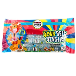 Raspberry Sour Belts Singles - 10.5oz Bag
