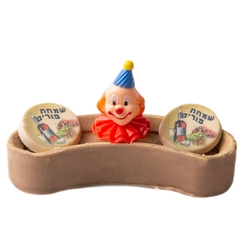 Hand-Crafted Decorative Purim Truffle Chocolate Mini Log