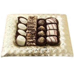 Frosted Champagne Chocolate Picture Frame Gift Tray