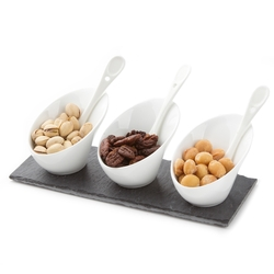 Simply Elegant Slate Ceramic Serving Set