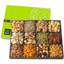 Holiday Gift Baskets, Mixed Nuts Gift Baskets 12 Variety Gift Baskets, Freshly Roasted Healthy Gift Box - Fathers Day - Oh! Nuts