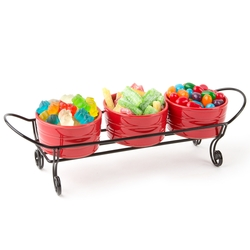 3 Dip Bowls With Candy