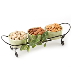 3 Dip Bowls With Nuts