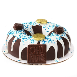 Hand Made Dome Hanukkah Belgian Chocolate & Candies Donut SMASH CAKE