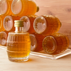 Rosh Hashanah Mini Barrel Honey Favor Jars 2.5oz - 12 Pack