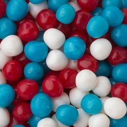 Sour Red, Blue & White Candy Balls Mix