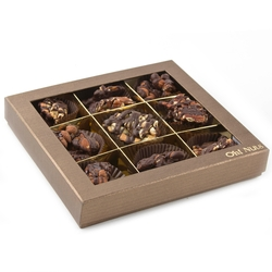 Dark Chocolate Caramelized Assorted Clusters Gift Box