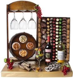 Fantastic Wine Barrel Gift Basket