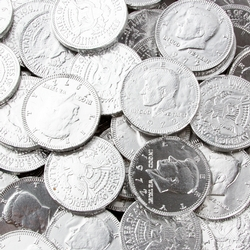 Silver Chocolate Coins - 1 LB Bag