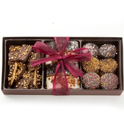 Chocolate Biscotti, Chocolate & Graham Cookies Gift Box