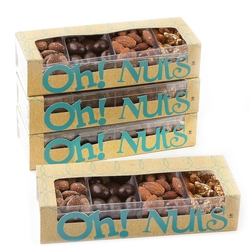 Lucite 4 Sections Almonds Box
