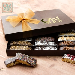 Handmade Chocolate Biscotti Gift Box - 9 Variety / 18CT