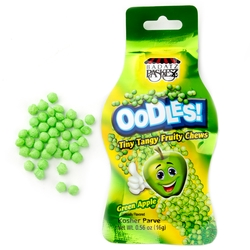 Oodles Tiny Tangy Apple Fruity Chews Bags - 48 CT Box