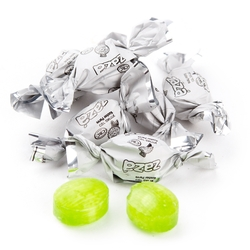 Zaza Mini White Foil Hard Candy - Green Apple