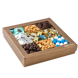Hanukkah Golden 9 Section Gift Box