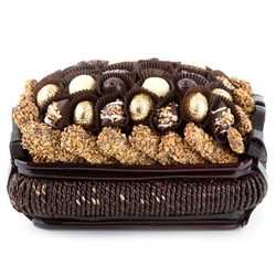 Chocolate Truffle Wicker Gift Basket