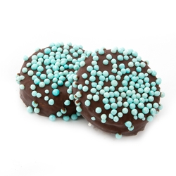 Blue Pearls Dark Chocolate Coated Sandwich Cookies