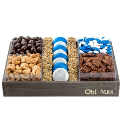 Hanukkah Large Wooden Line Up Gift Basket