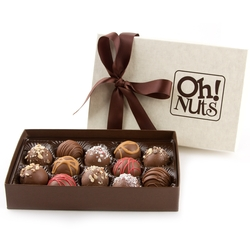 Hand Made Gourmet Truffles Gift Box - 12 Piece Box