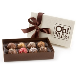 Hand Made Gourmet Truffles Gift Box - 8 Piece Box