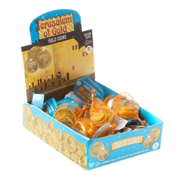 Gold Jerusalem Of Gold Nut-Free Belgian Milk Chocolate Coins