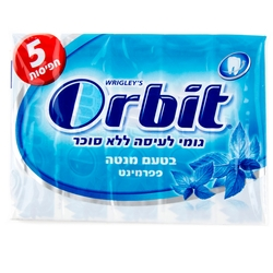 Orbit Professional Bubble Mint Gum Pellets - 14CT Box