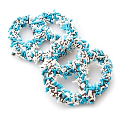 Hanukkah Belgian Chocolate Covered Pretzels Sprinkles - 10CT Box