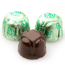 Non-Dairy Hazelnut Green Foiled Chocolate Truffles - 5 LB